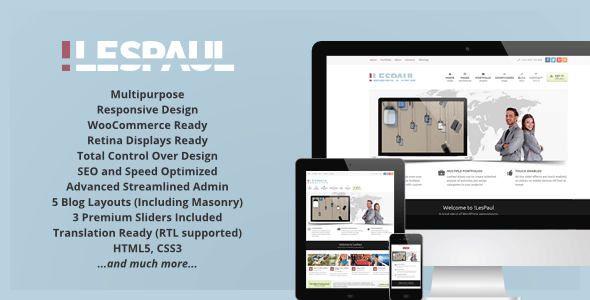 LesPaul WordPress Theme
