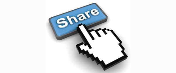 sharing your content on social media