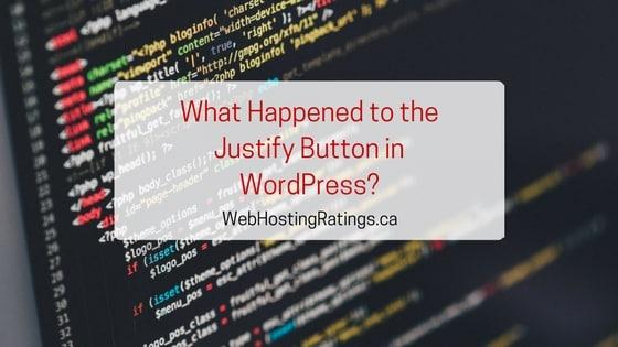 Justify WordPress