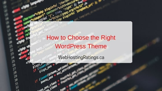 Choose WordPress Themes