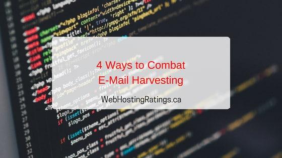 Combat Email Harvesting