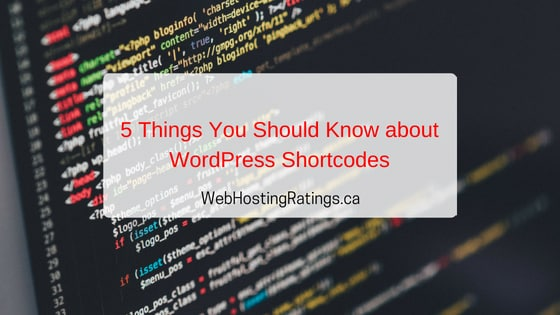 5 Things about WordPress Shortcodes