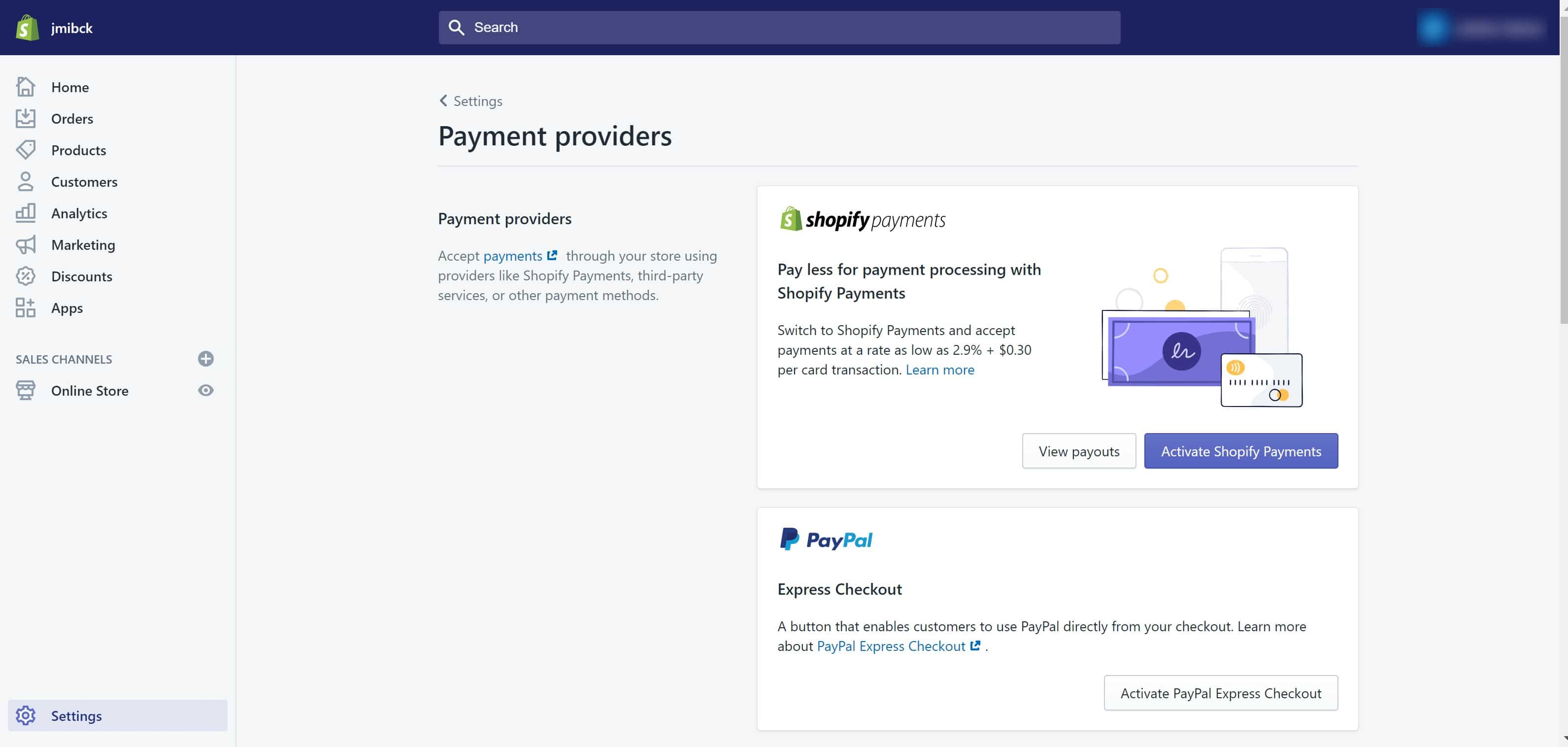 Shopify Payment Providers