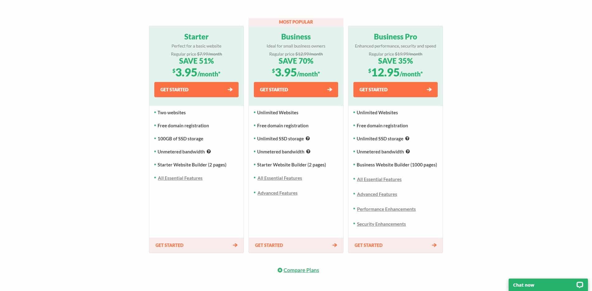 HostPapa Full-Service Web Hosting Plans